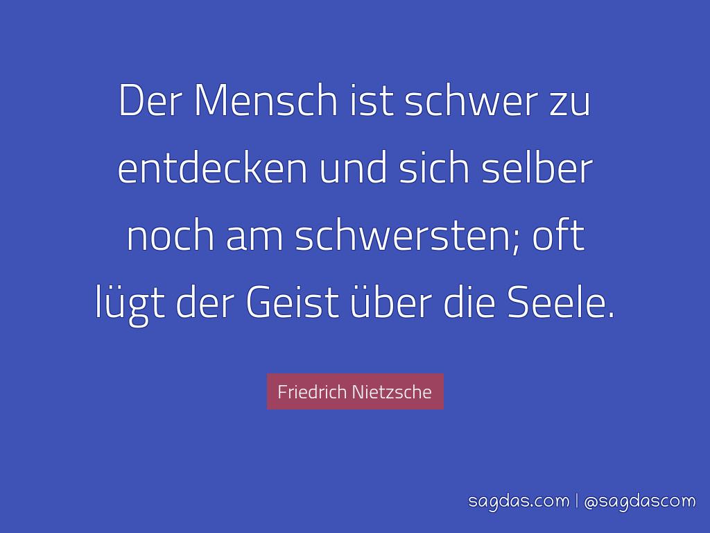 Friedrich Nietzsche Zitat Der Mensch Ist Schwer Zu