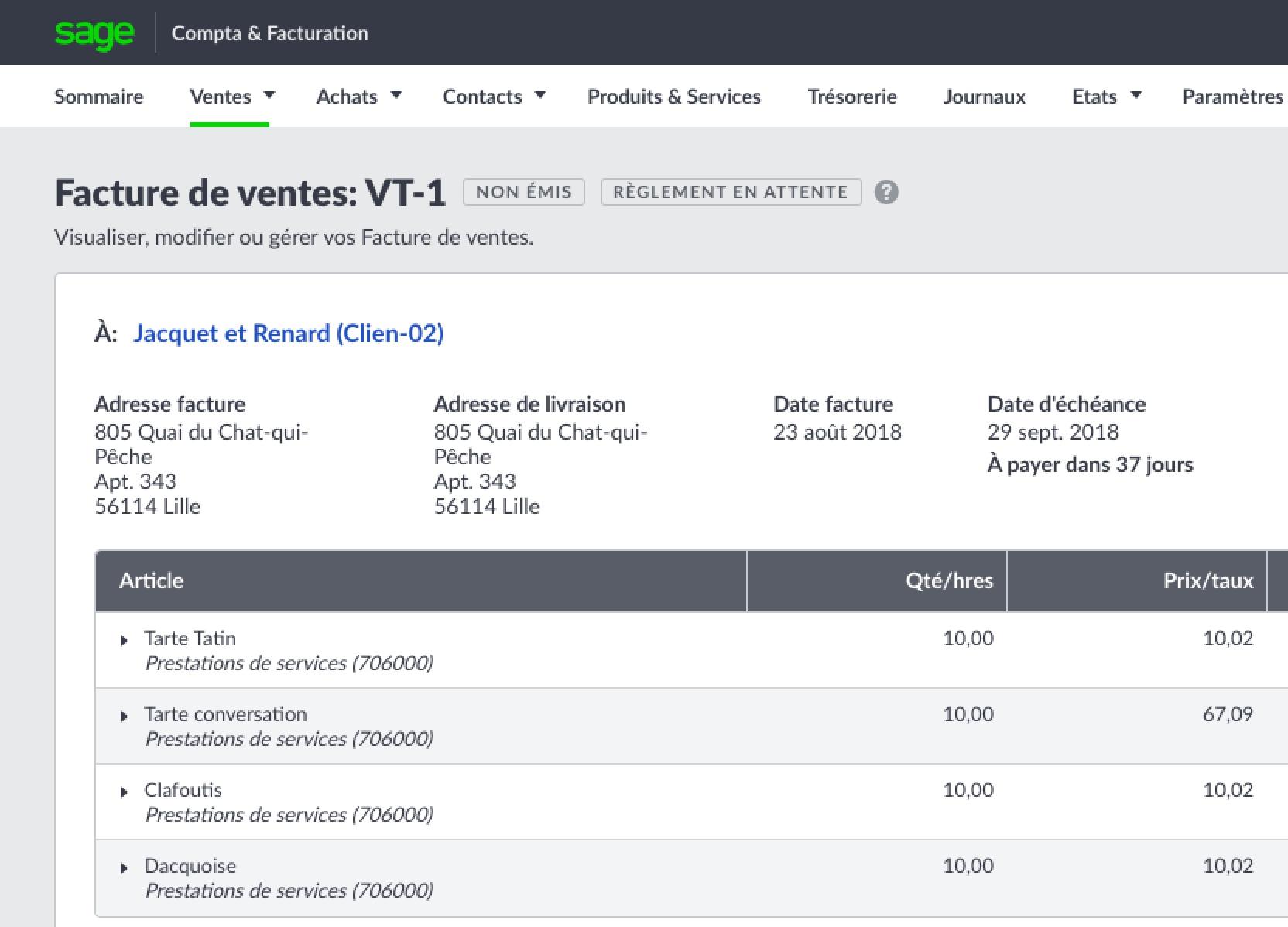 Logiciel Devis Facture Sage Business Cloud Compta