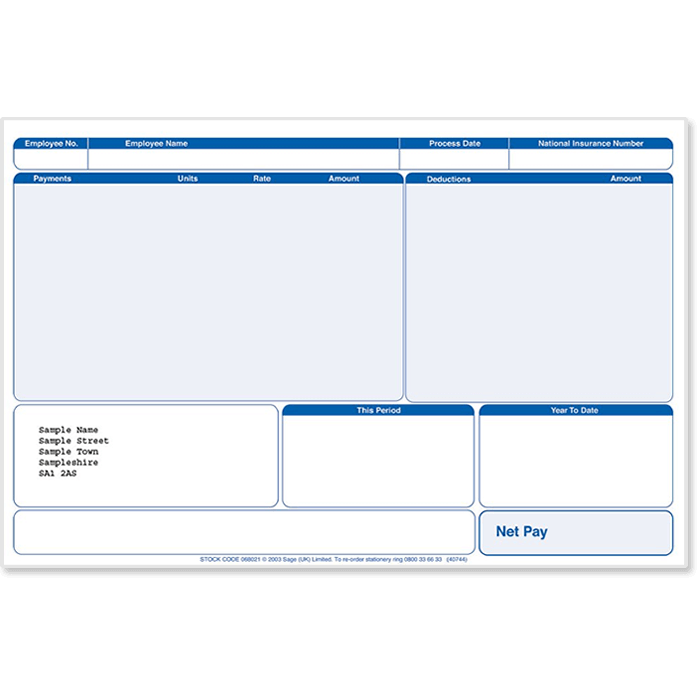 Sage Payslips Plus in Green or Blue