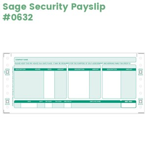 Sage Security Payslip code 0632 in green