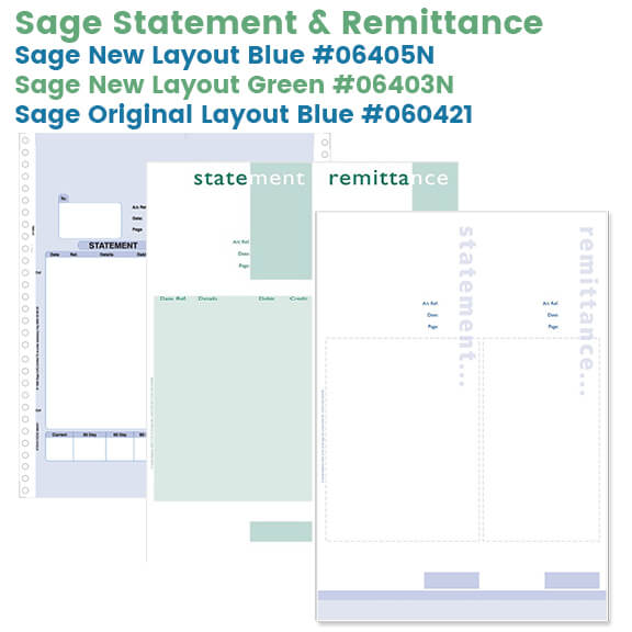 Sage Statement & Remittance Stationery