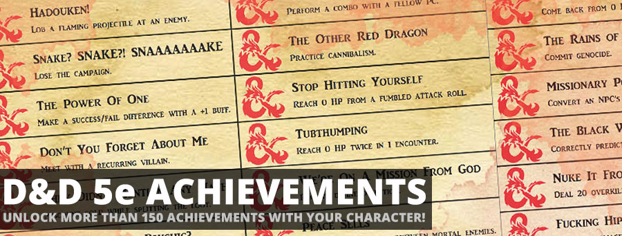 Dungeons&Dragons 5e Edition Achievements | Sage Advice D&D