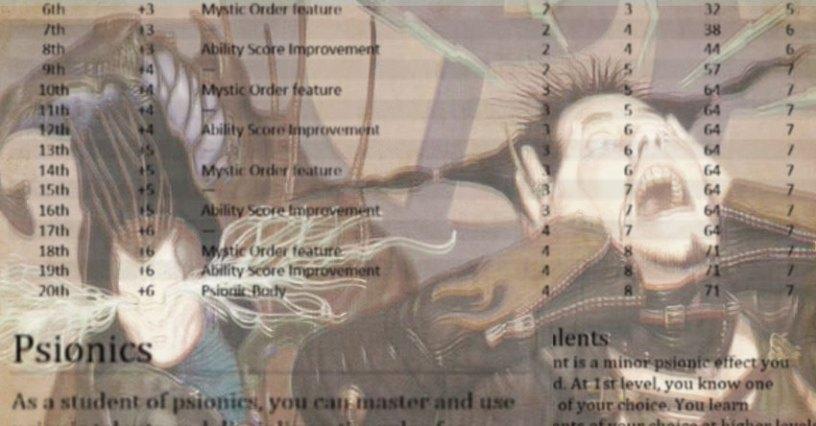 UAMysticPsionic | Sage Advice D&D