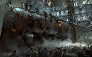 train steampunk