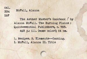 Alanna - library card