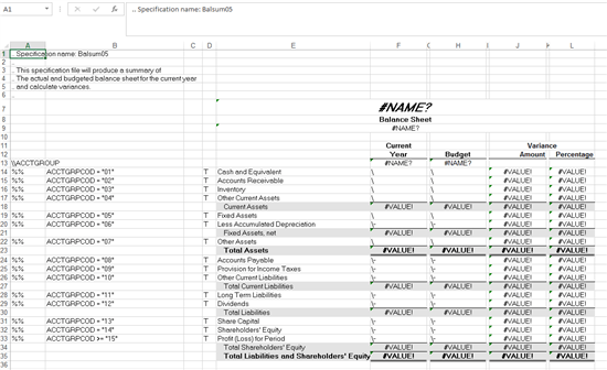 On spec: Getting to know the sample financial statements
