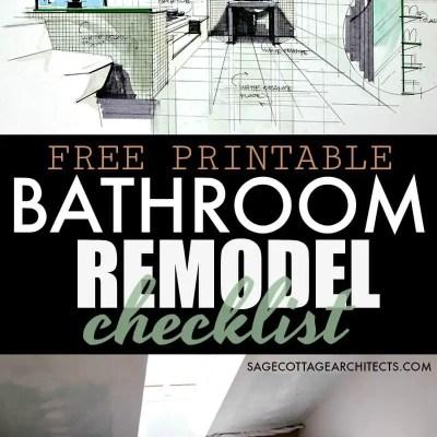 Bathroom Remodel Checklist – Free Printable Download