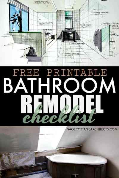 Bathroom Remodel Checklist - Free Printable Download