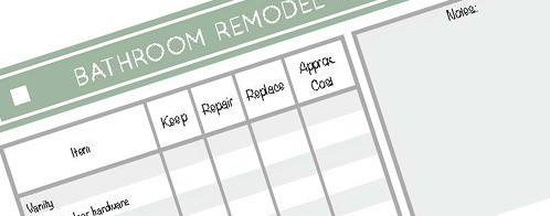 Bathroom Remodel Checklist - Free Printable Download 1