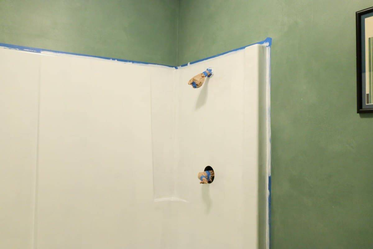Bathtub refinishing - first coat of white paint