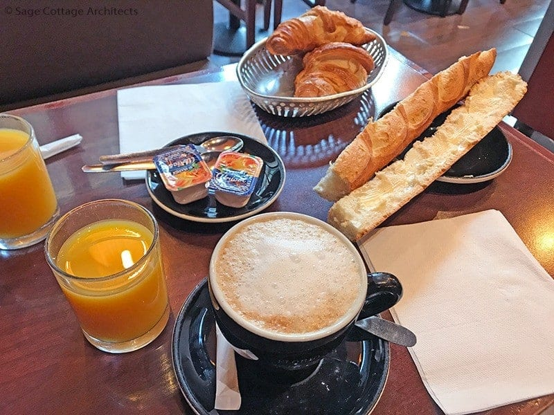Paris travel tips - typical French breakfast