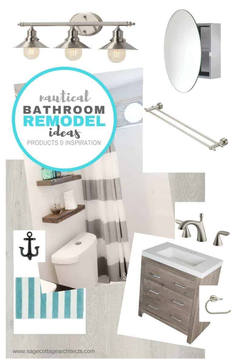 nautical bathroom ideas photo collage
