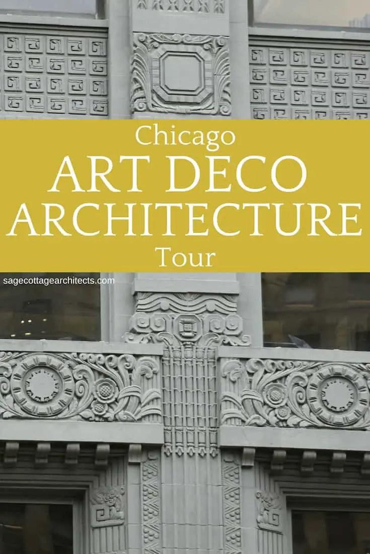 Collage of Art Deco Architecture - dark grey building ornamentation