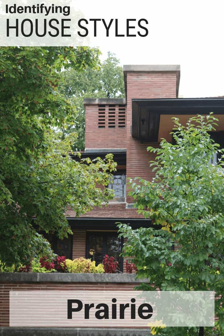 Photo collage of Robie House, a Prairie style home