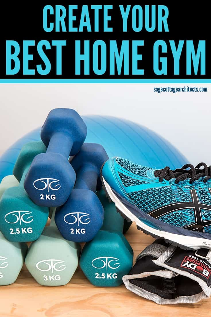 Photo collage of workout equipment. Workout in the best home gym that you can.