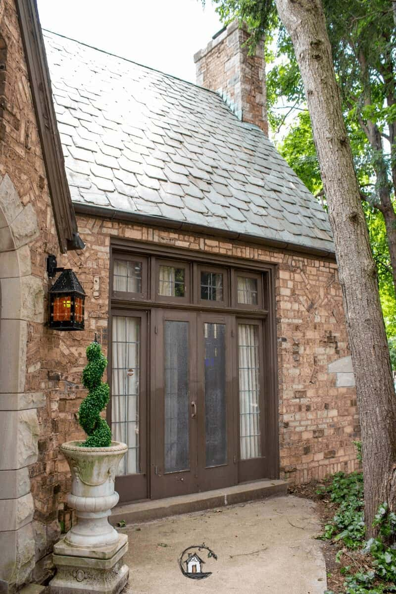 Photo of Gothic style home on old house tour.