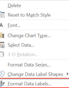 Right click on the data label and select format labels also how to fix wrapped in  pie chart sage intelligence rh sageintelligence