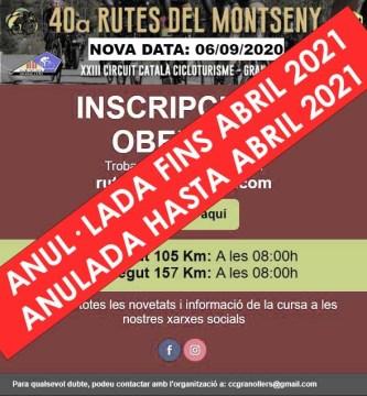 RUTES DEL MONTSENY 2020 ANULADA
