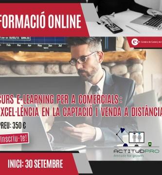 Curs e-learning online per a comercials: Excel·lència en la captació i venda a distància.