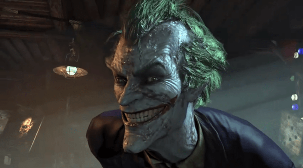 Joker Smiling in Batman Arkham screenshot