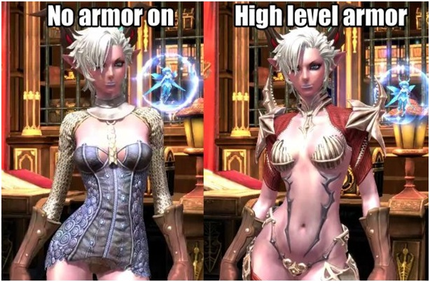 The female video game armor logic