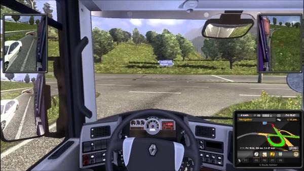 Screenshot of Euro Truck Simulator 2 game.