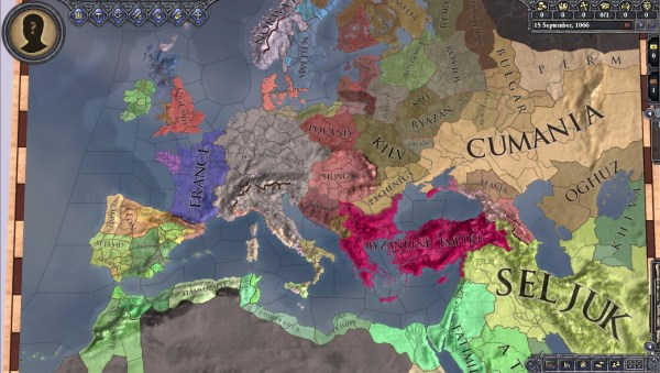 Campaign map on Crusader Kings