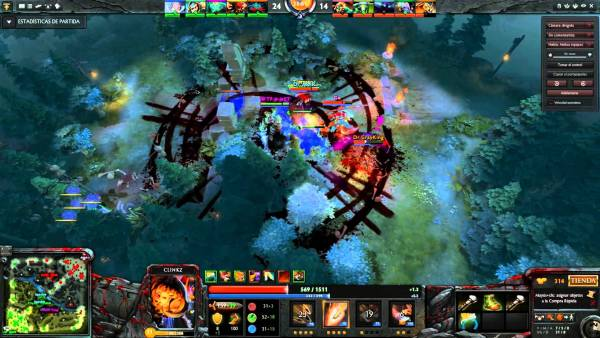A clash of heroes in DOTA 2
