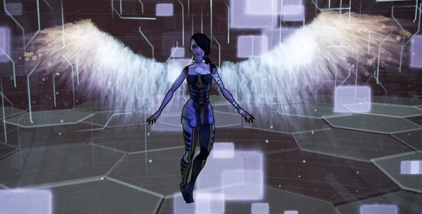 Angel screenshot from Borderlands