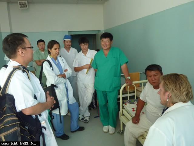 Preop patient rounds Choibalsan Mongolia