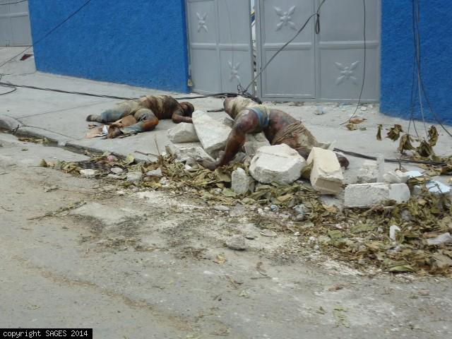 Bodies streets of Port-au-Prince