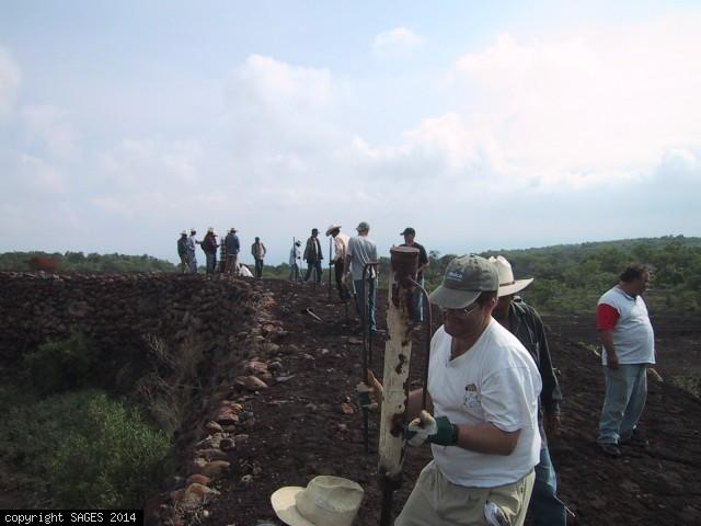 Post hole digging for fence Tamaula Mexico