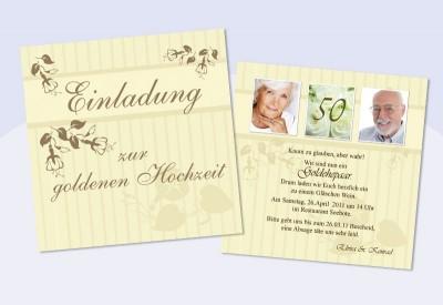 Einladungskarten Hochzeit Hochzeitseinladungen Goldene