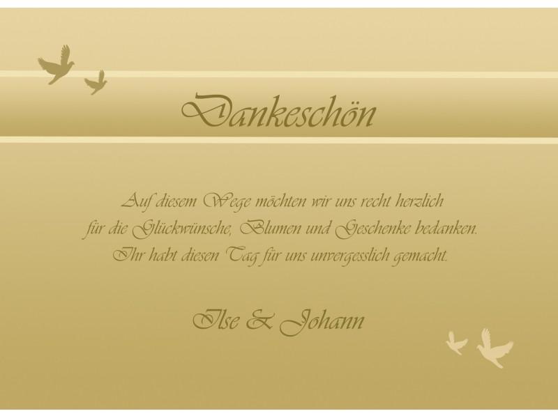 Danksagungskarten Hochzeit Silberhochzeit Goldhochzeit