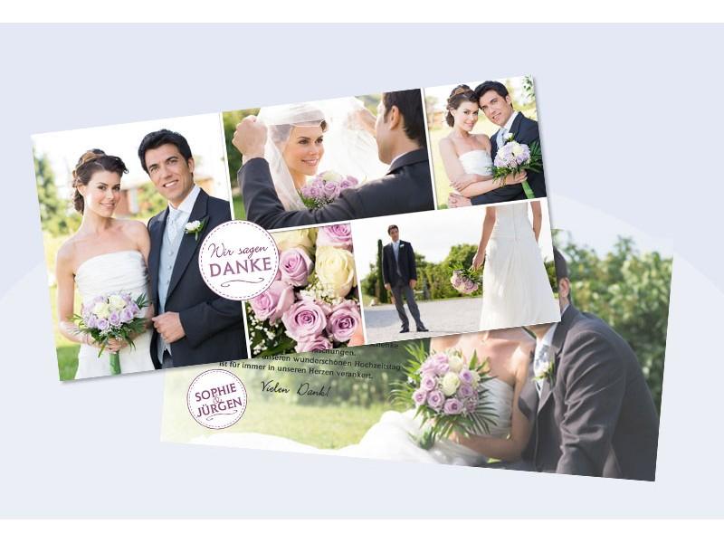 Danksagungskarte Hochzeit Wir sagen Danke