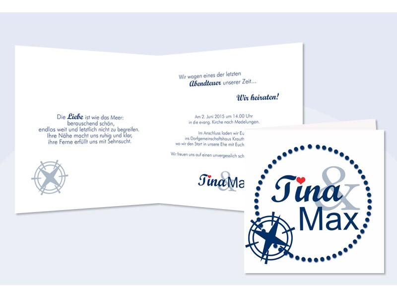 Einladung Hochzeit Maritim