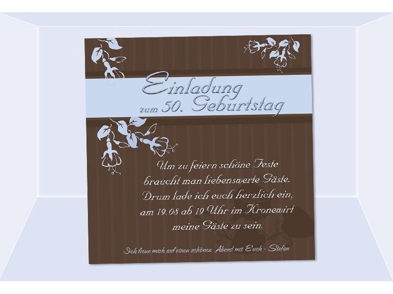 Einladung 50 Geburtstag Fotokarte Einladungskarten grn
