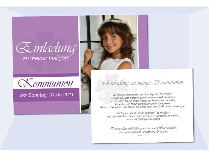 Einladung Kommunion  Konfirmation Einladungskarte