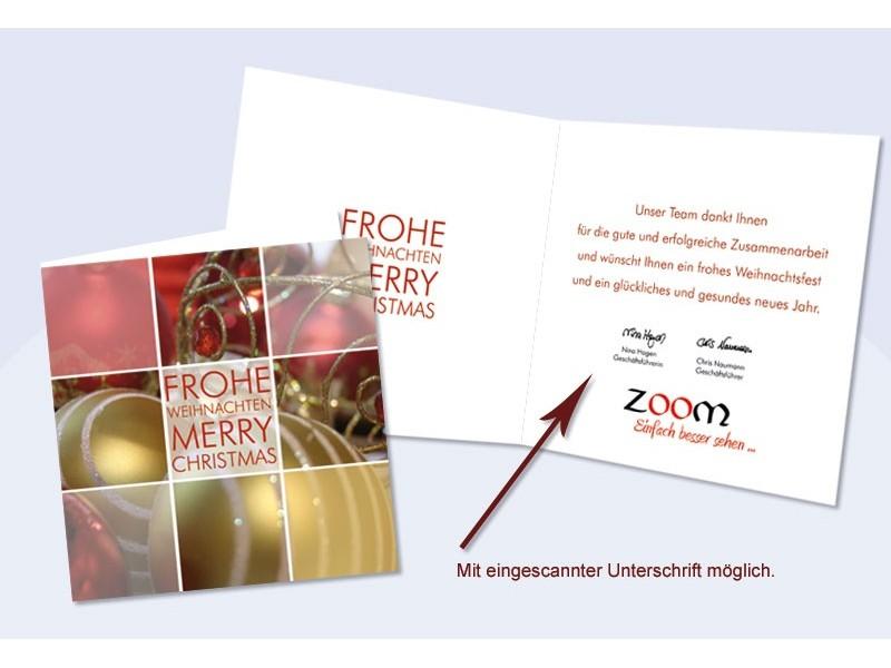 Weihnachtskarte Firmen mit eingedrucktem Text Flexibilitt