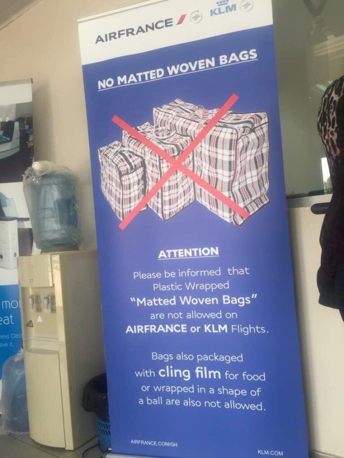 Air France, KLM Ban Woven 'Ghana Must Go' Bags