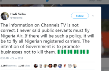 FG Denials Public servant must fly Nigeria Air Report