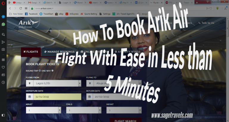 How To Book Arik Air Flight With Ease In 5 Minutes (Video)