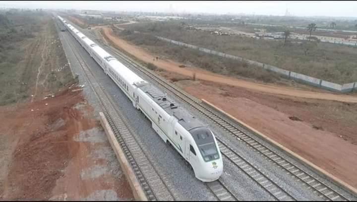 Aerial view of the Lagos - Ibadan Train
