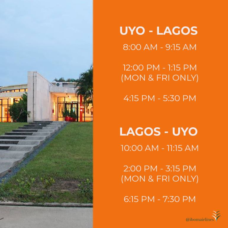 Ibom Air flight from Uyo to Lagos