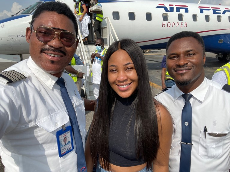 BBN Star Erica Nlewedim Spotted With Air Peace Pilot
