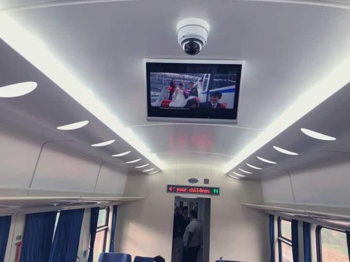 You can enjoy movies inside the Lagos - Ibadan Train