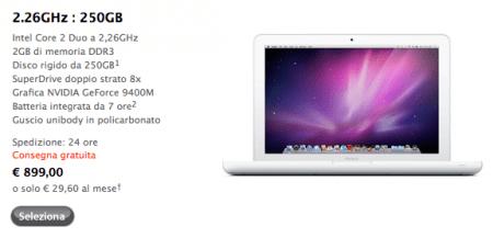 il nuovo macbook sull'Apple Store