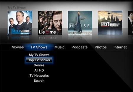 Nuova interfaccia Apple TV 3.0