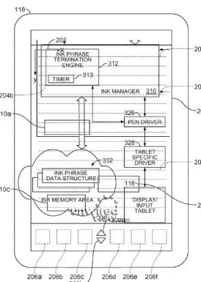 itablet islave apple brevetto patent digital ink recognition technique