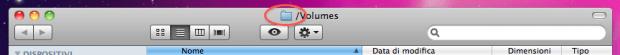 Cartella Volumes equivale a Risorse del Computer di Windows